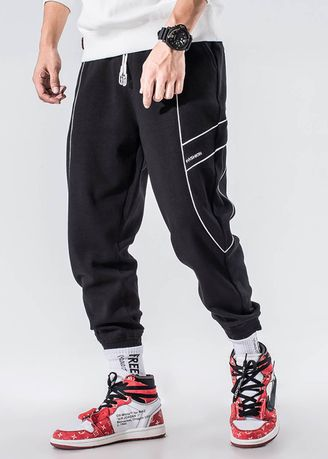 Casual Trousers and Chinos . Men Loose Joggers Hip Hop Running Casual Fitness Sweatpants -