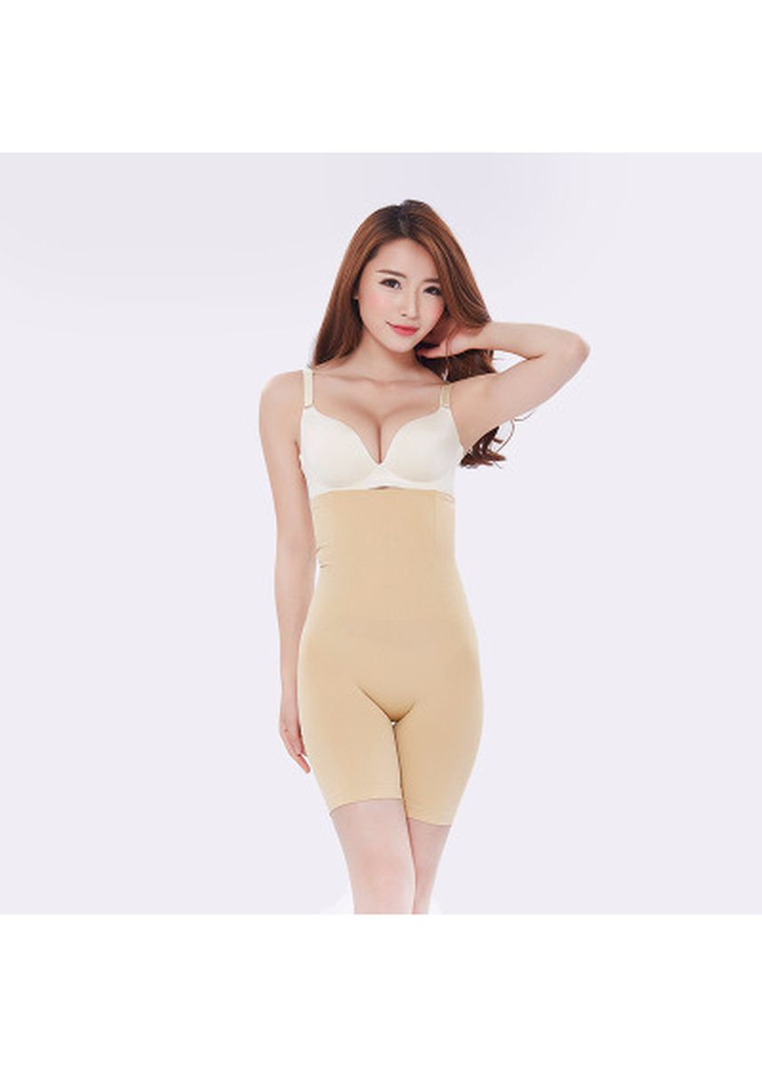 Beige color Corsets . Women High Waist Shaping Panties Breathable Body Shaper Slimming Tummy Pant -