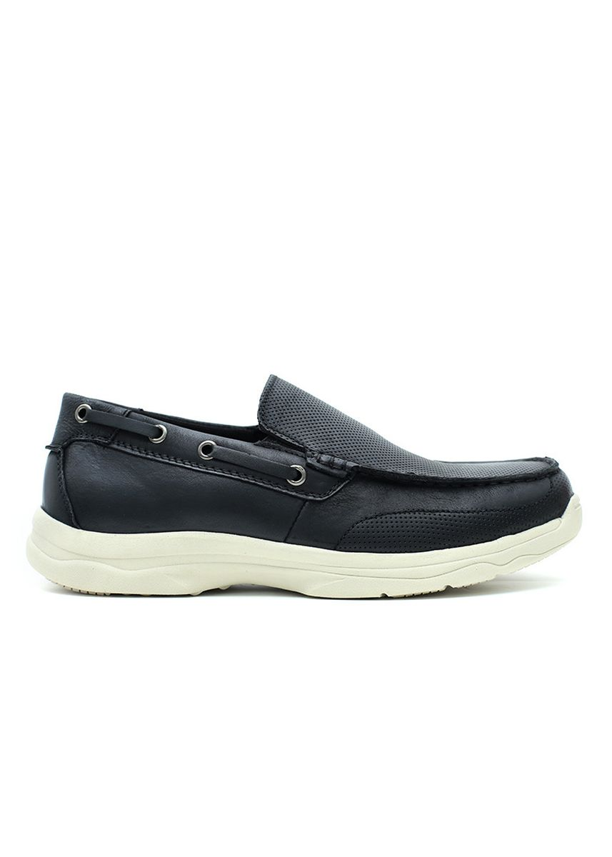 Hitam color Sepatu Kasual . GINO MARIANI BENZA Exclusive Cow Leather Casual Men's Shoes -