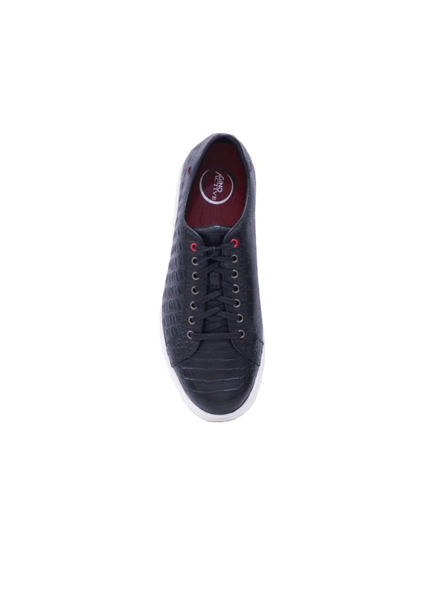 Hitam color Sepatu Kasual . GINO MARIANI GUSTRAVO 2 Exclusive Cow Leather Casual Men's Shoes -