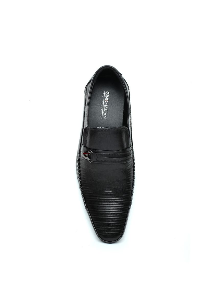 Hitam color Sepatu Formal . GINO MARIANI BARDO Exclusive Cow Leather Formal Men's Shoes -