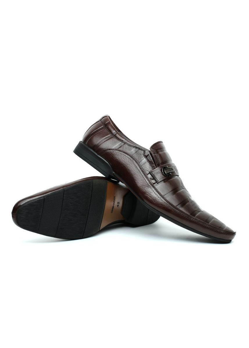 Brown color Formal Shoes . GINO MARIANI BARENT Exclusive Cow Leather Formal Men's Shoes -