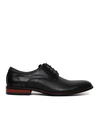 Hitam color Sepatu Formal . GINO MARIANI BERT Exclusive Cow Leather Formal Men's Shoes -