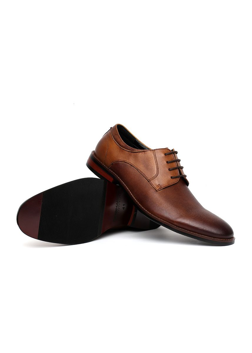 Brown color Formal Shoes . GINO MARIANI BERT Exclusive Cow Leather Formal Men's Shoes -