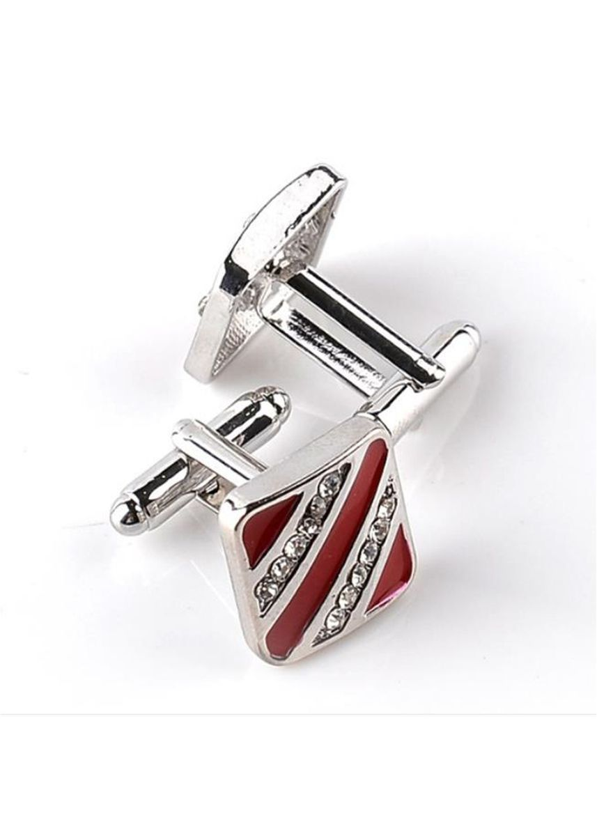 Red color Cufflinks . Men Stylish Cufflinks Delicate Accessory Gift Business -
