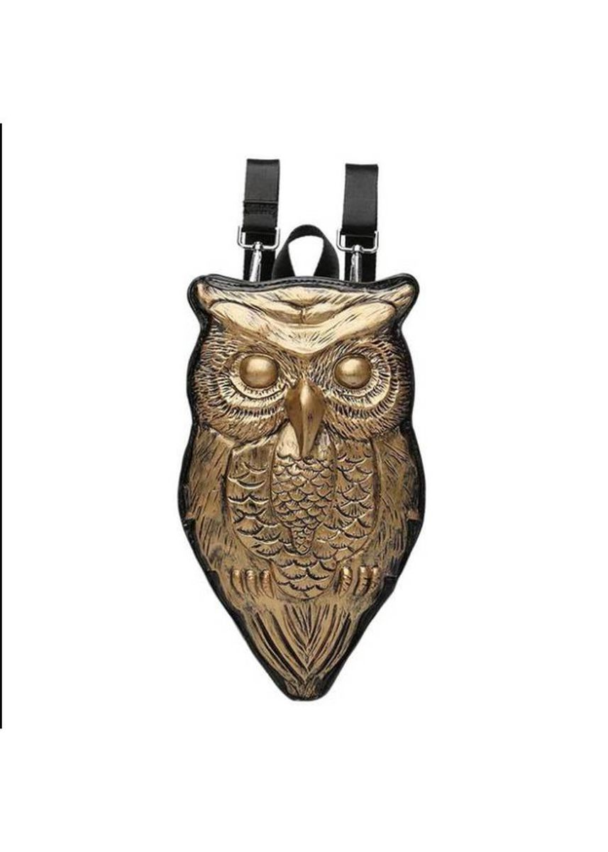 ทอง color เป้สะพายหลัง . New Sweet Pu Shoulder Bag Women's Silicone 3D Owl Backpack Outdoor -