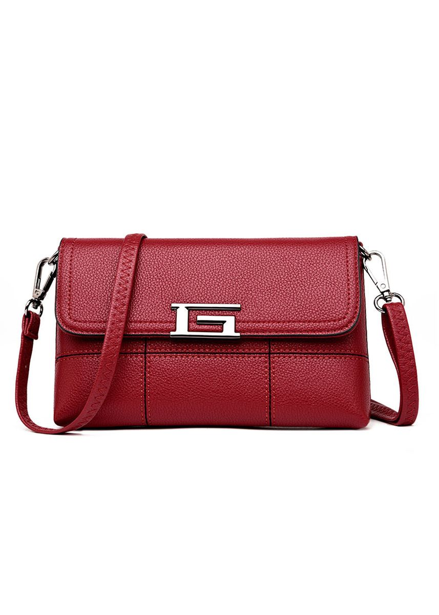 Red color Messenger Bags . New Women's Bag Stitching Shoulder Messenger Bag Simple Wild Middle-aged Mother Bag Fashion Tide Small Square Bag -