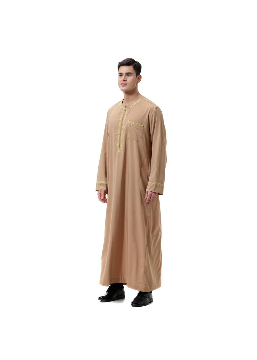 สีกากี color Koko . Fashion Men's Muslim Robe -