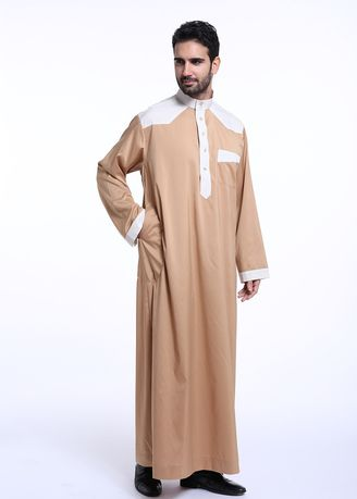 . New Fashion Buckles Men's Muslim Robe -