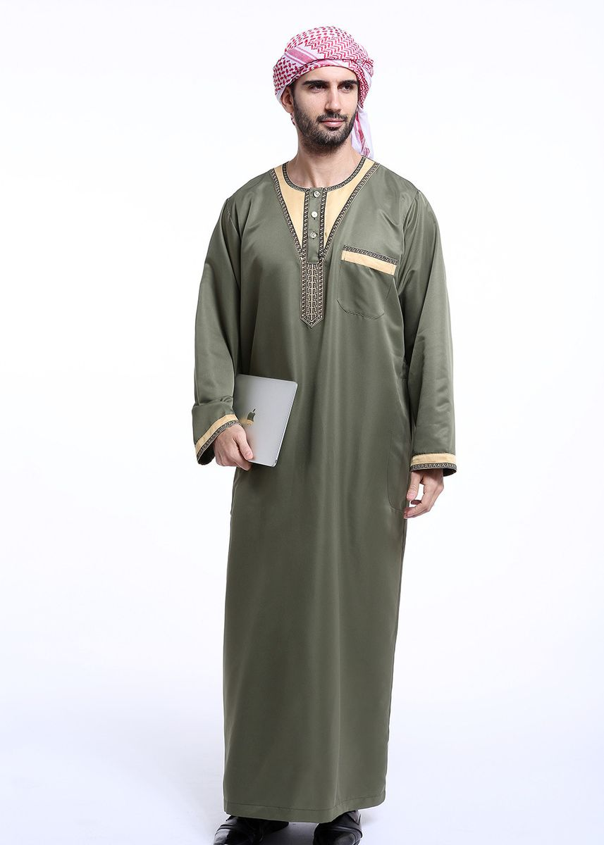 เขียว color Koko . High Quality Men's Muslim Robe -