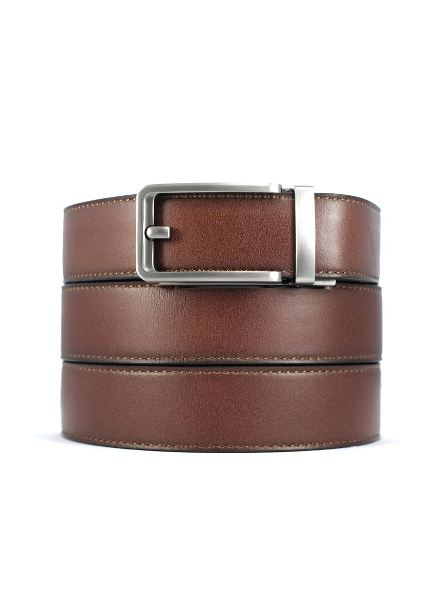 Silver color Belts . CINCH BELTS Mens Brown Full Grain Leather Belt -