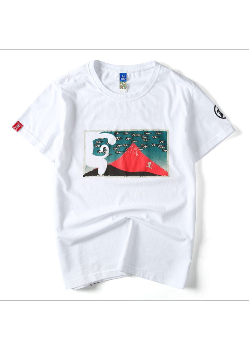 White color T-Shirts and Polos . New summer Wukong shop Japanese street fashion -