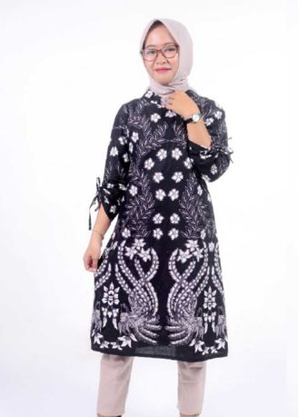 Black color Tops and Tunics . Batik Zakia Ethnic Indonesia Rajawali Lovers -