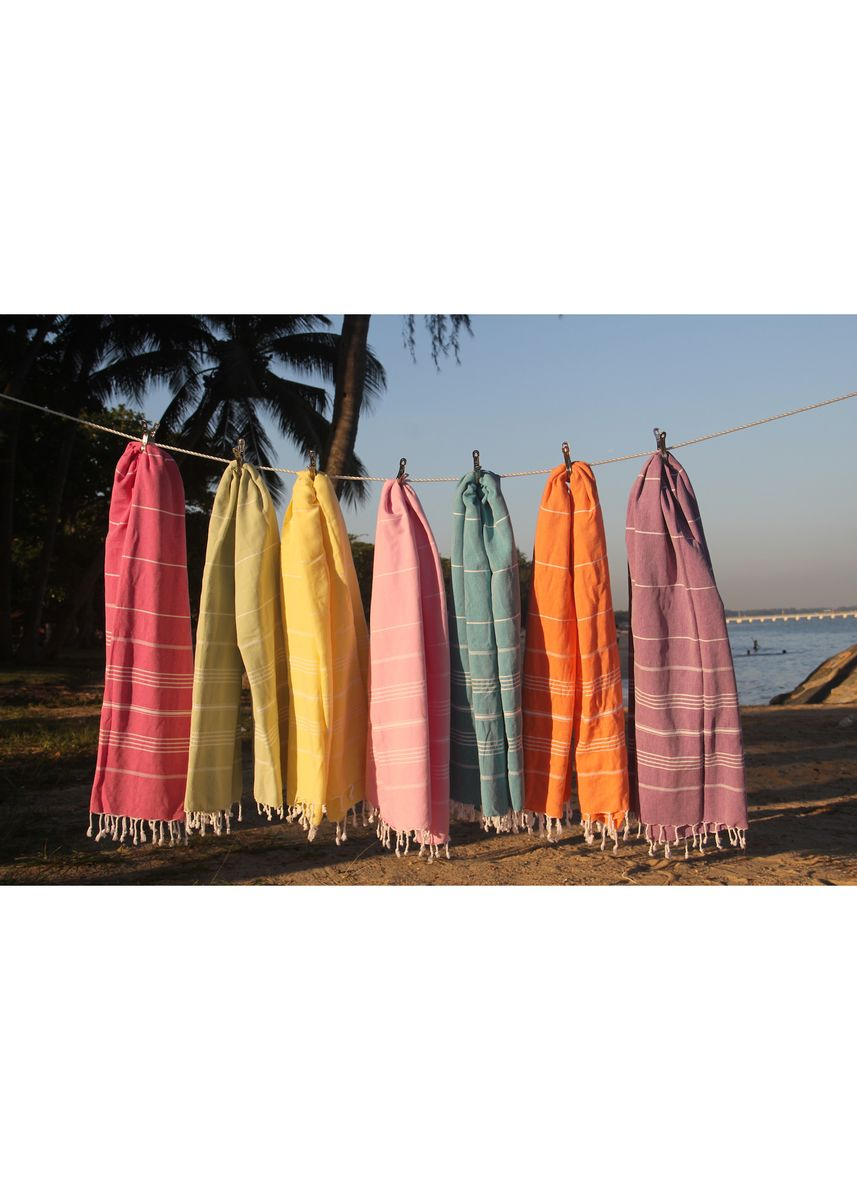 Pink color Towels . Summer Moments Turkish Towel Beach/Pool/Bath -