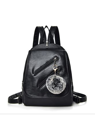 Black color Backpacks . Women's Backpack Casual Street Retro Style -
