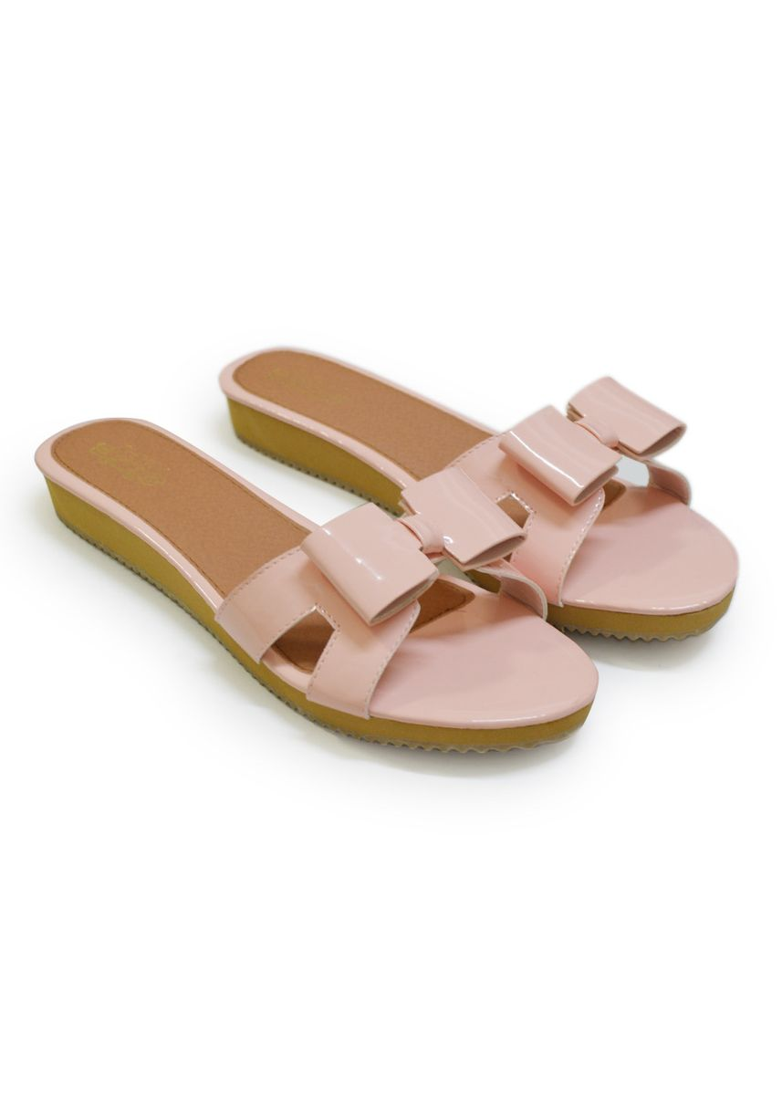 Pink color Sandals and Slippers . Chowy Shoes รองเท้าแตะ รุ่น CH0130 -