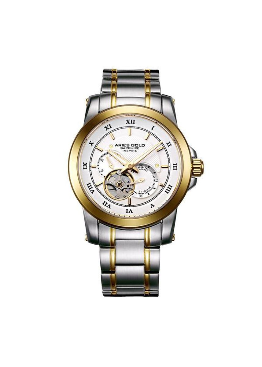 Gold color Analog . Aries Gold Infinum Forza G 9001 2TG-W Men's Watch -