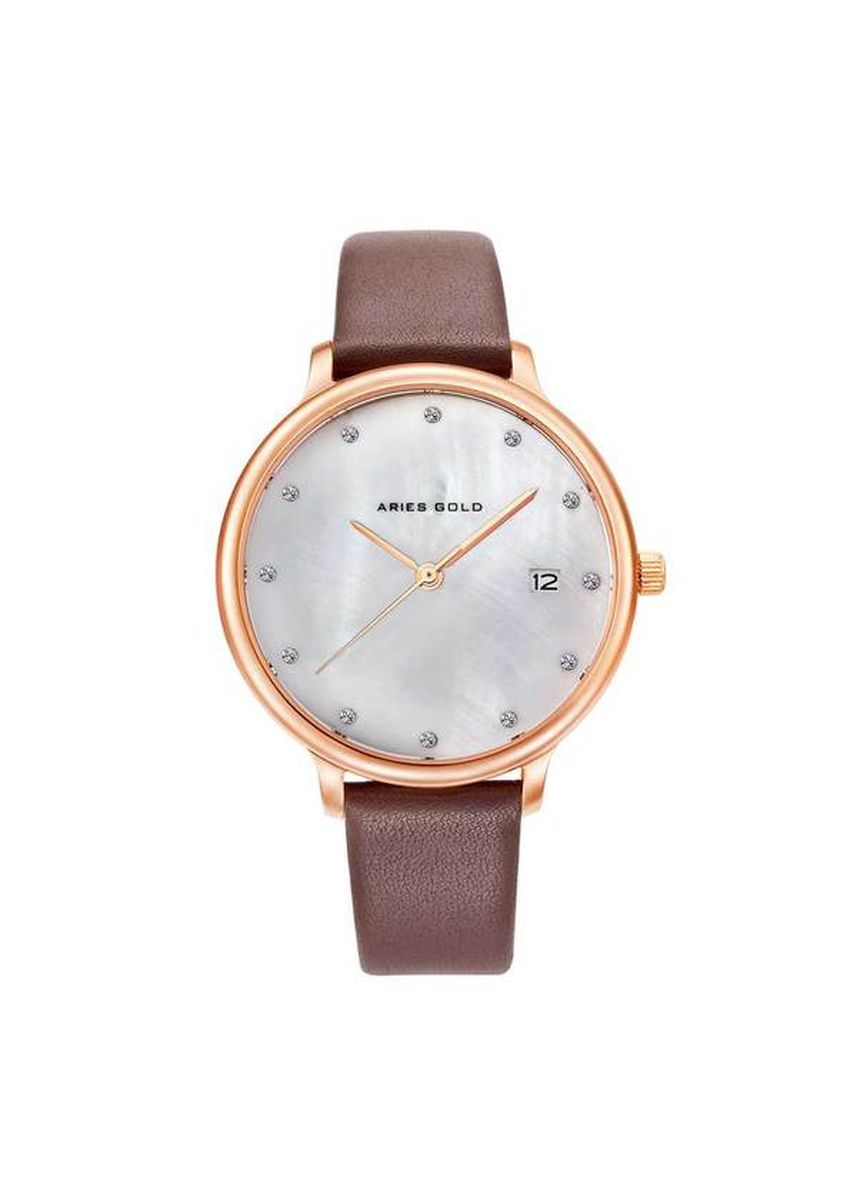 Brown color Analog . Aries Gold Enchant Fleur L 5035 RG-MP Women's Watch -