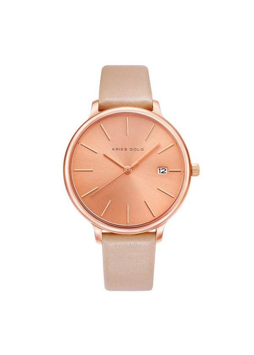 Pink color Analog . Aries Gold Enchant Fleur L 5035 RG-RG Women's Watch -