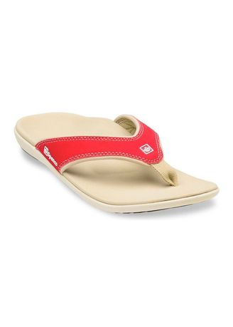 Red color Sandals and Slippers . Spenco Yumi Women Slippers -