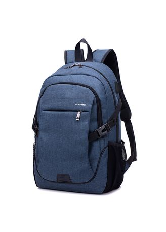 Blue color Backpacks . Men Travel Large Capacity Backpack   -