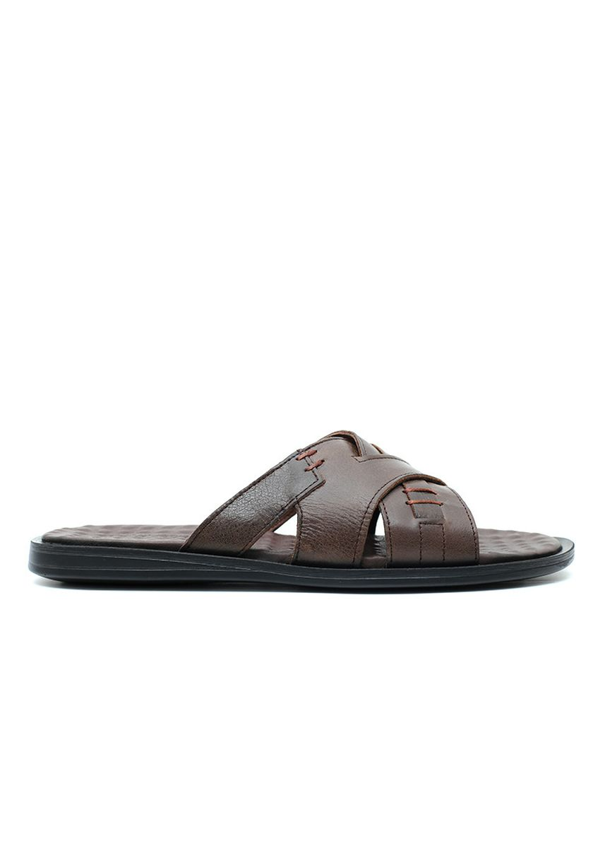 Cokelat color Sandal . GINO MARIANI HOMERO Exclusive Genuine Leather Men's Sandal -
