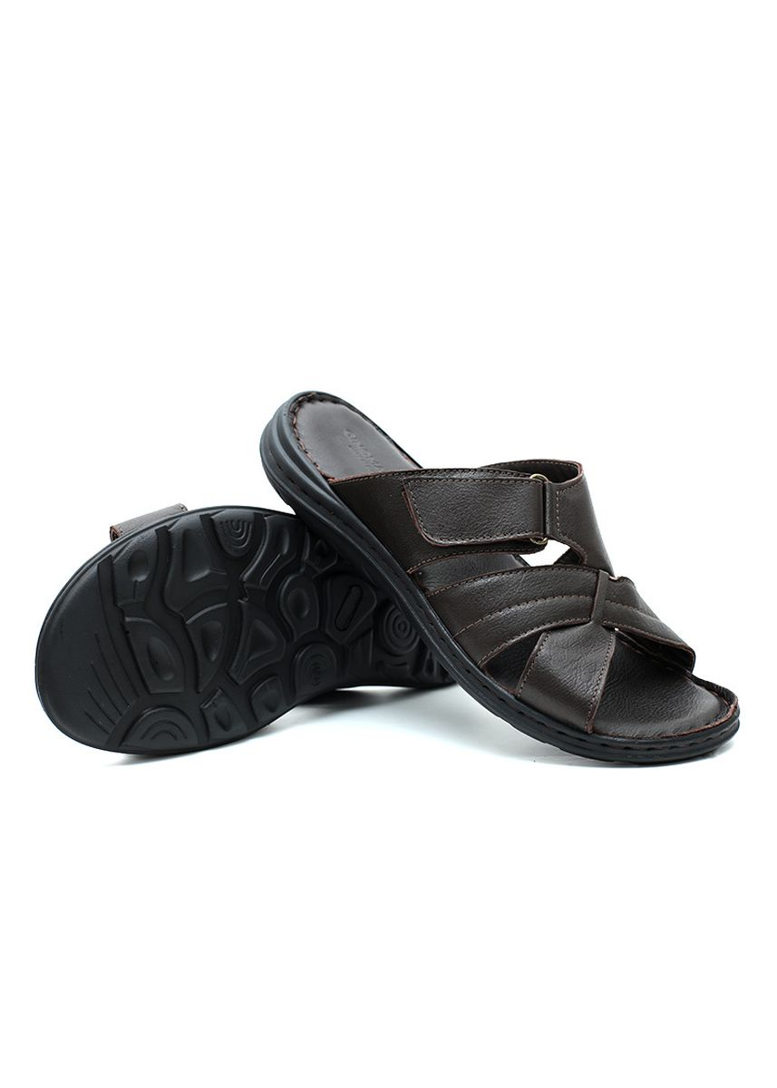 Brown color Sandals and Slippers . GINO MARIANI HORMENT Exclusive Genuine Leather Men's Sandal -