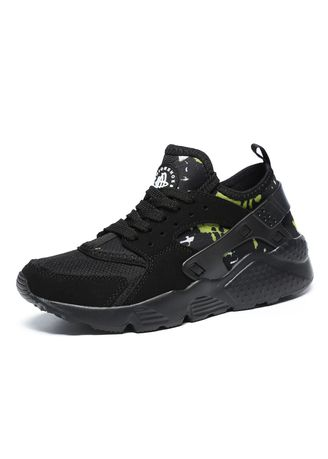 Black color Sports Shoes . Men's Large Size Sports Casual Running Shoes -