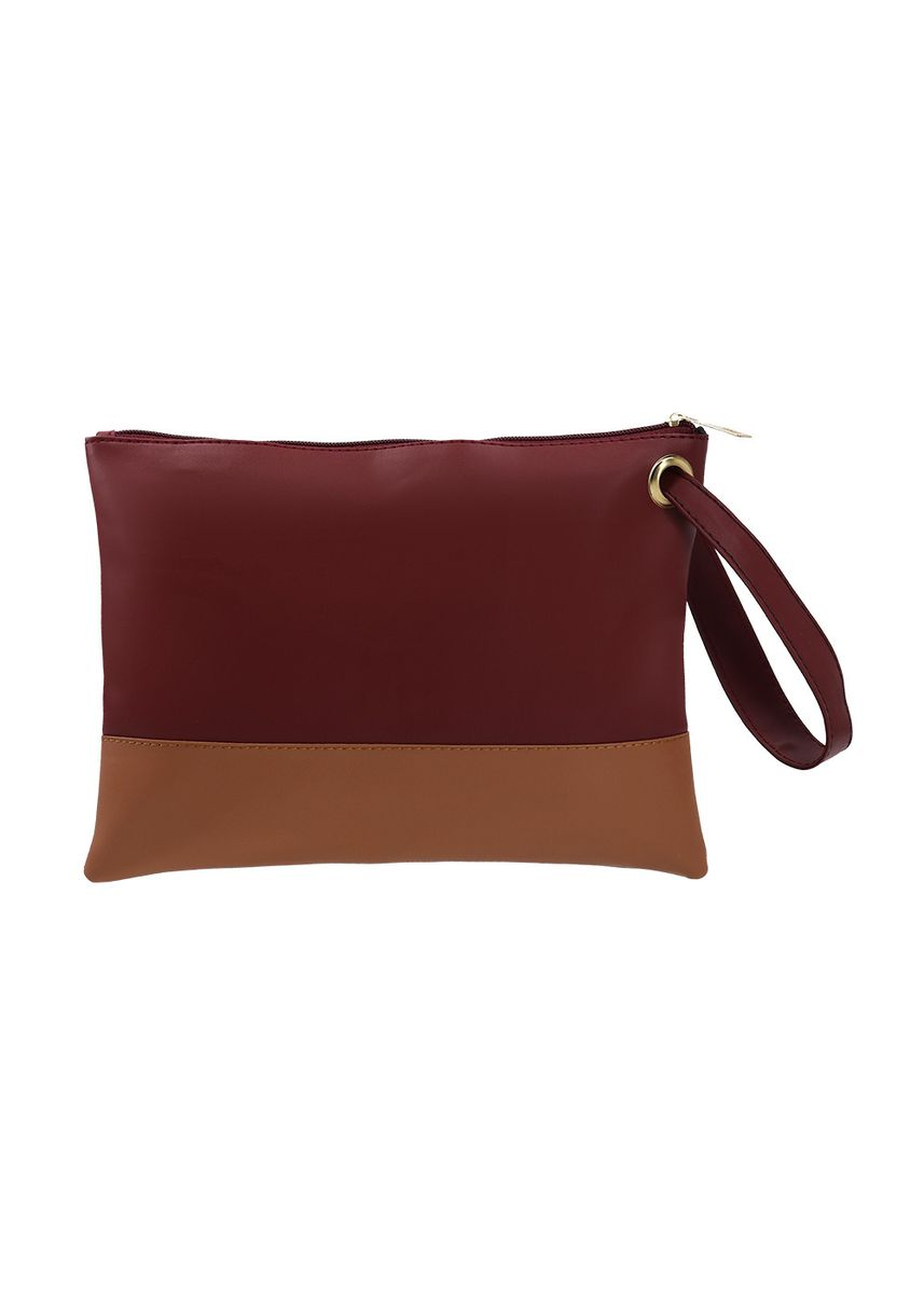 Maroon color Wallets and Clutches . MYNT By MAYONETTE Sully Two Tone Clutch -