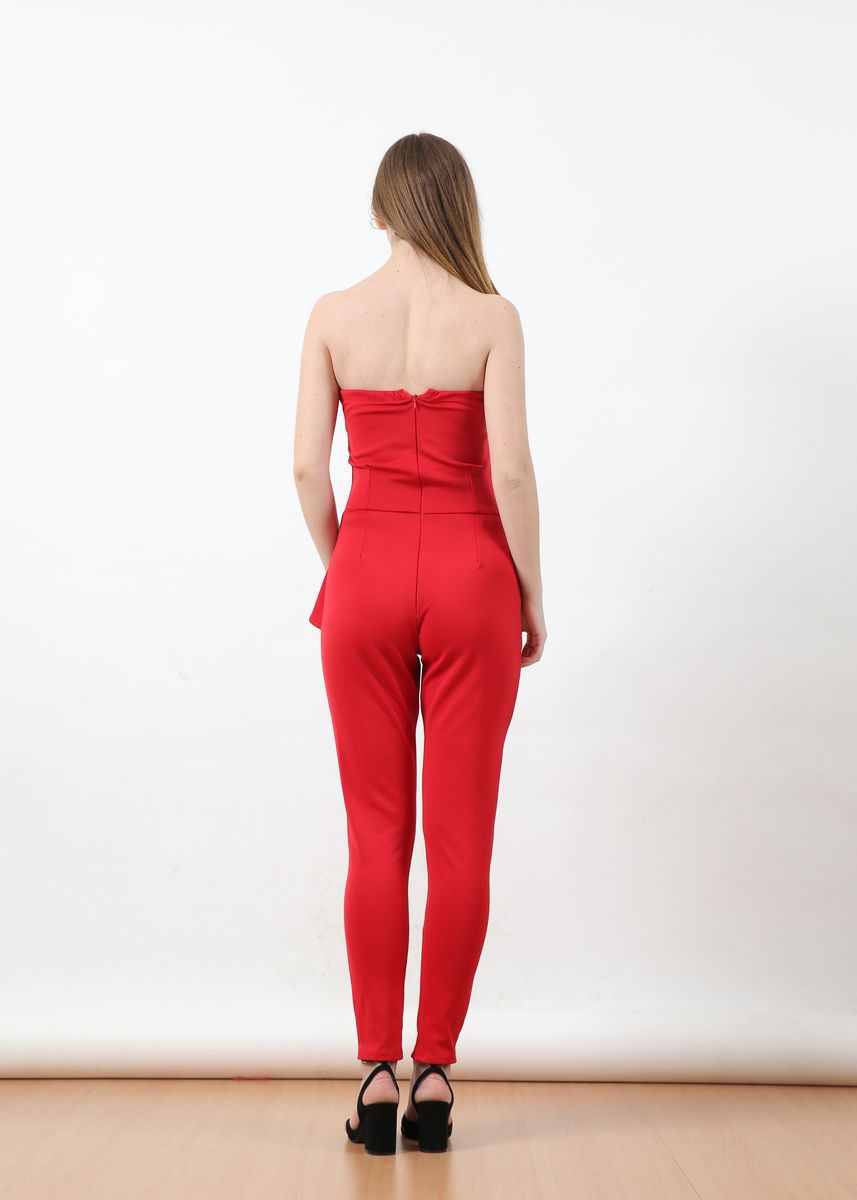 Merah color Overall . Jumpsuit Monia -