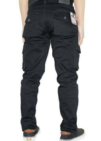 Black color Casual Trousers and Chinos . Celana CARGO Pria /PDL/ Celana Panjang Pria Bestseller -