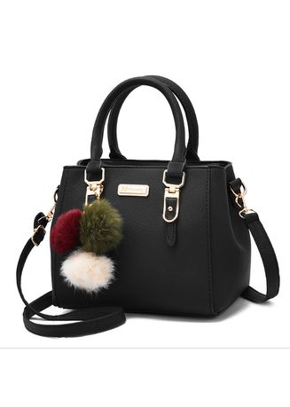 Black color Sling Bags . Womens Ornaments Totes Solid Sequined Handbag  Shoulder Bag -