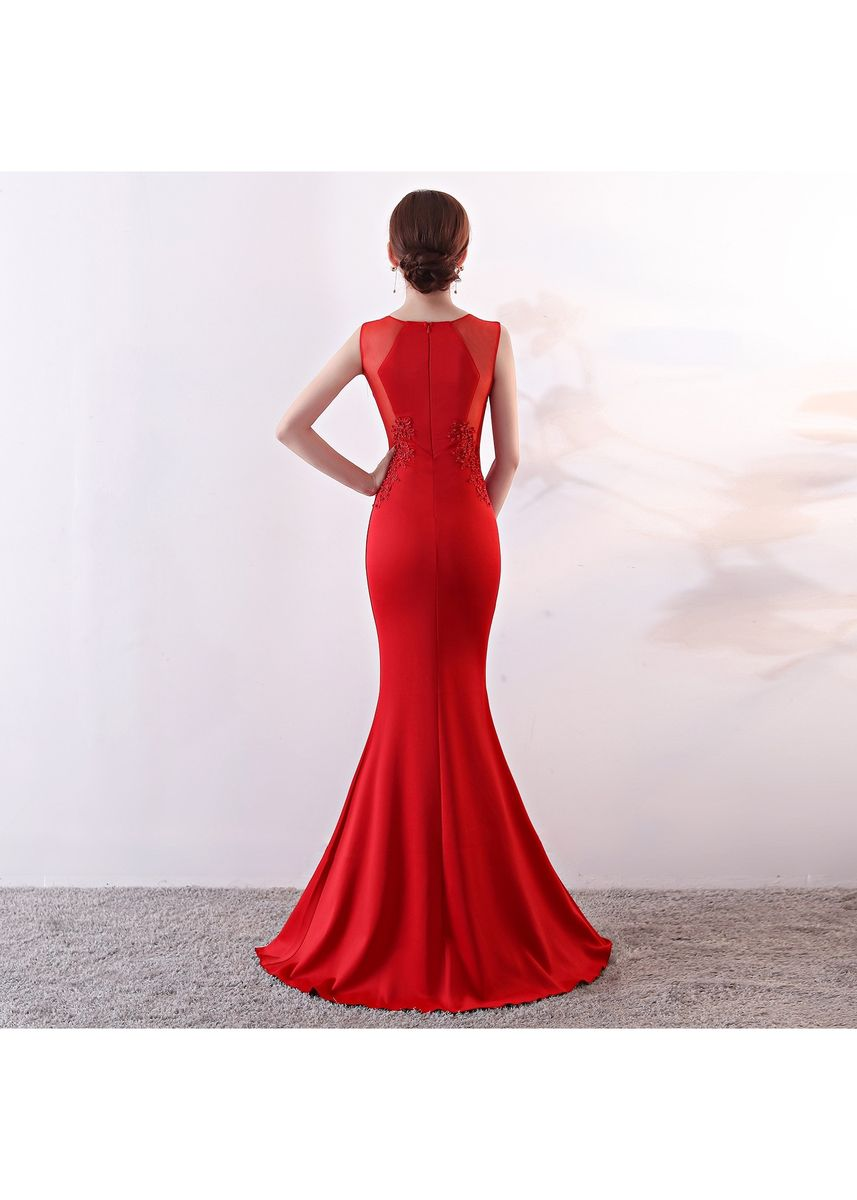 Red color Dresses . Women Elegant Prom Dress -