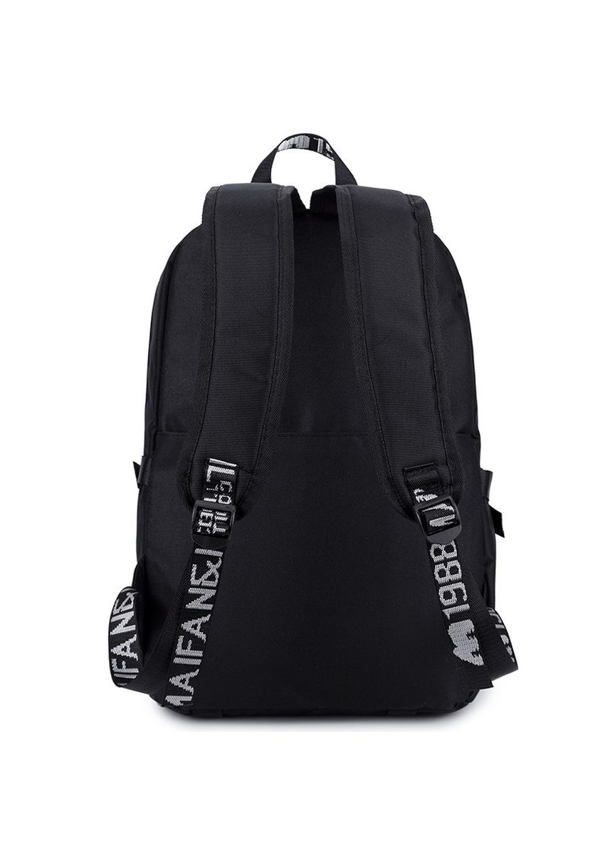 Black color Backpacks . Backpack Men's Simple Fashion Trend Portable Student Bag Female -