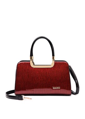 Red color Hand Bags . Hand Shoulder Slung Women's Bag -