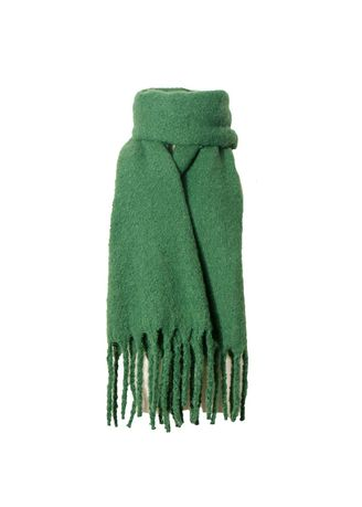6f2d3a0ad989 Fashion Thick Tassels Solid Color Scarf Green