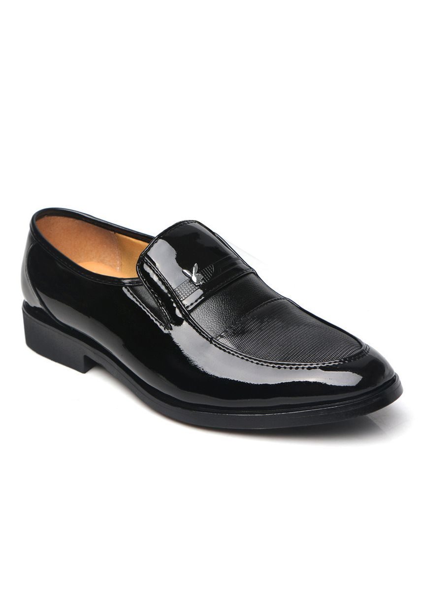 Black color Formal Shoes . Brand Men's Shoes Everyday Casual Pointed Patent Leather Fashion -