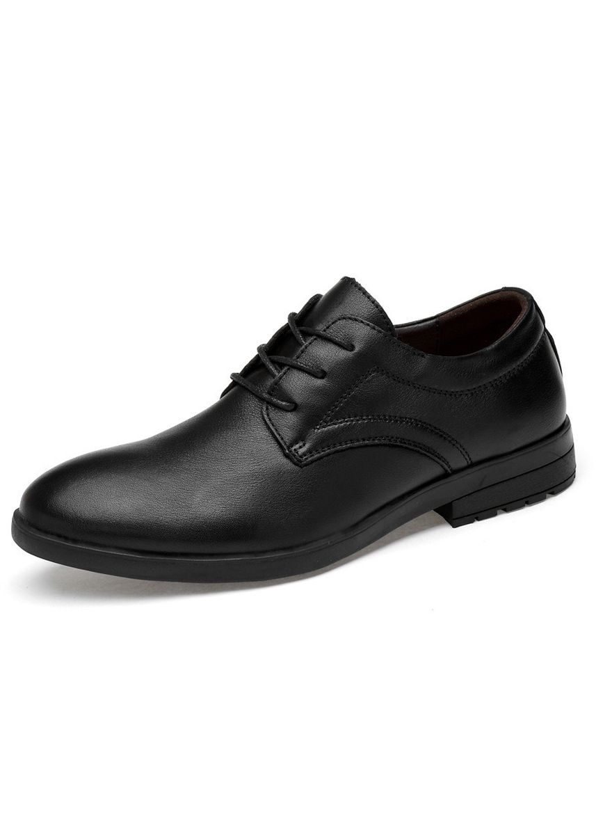 ดำ color รองเท้าแบบสุภาพ . Men's Black Dress Shoes Pointed Work To Business Casual Breathable -