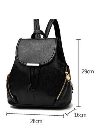 f3a76a2843 Women Simple PU Student Fashion Backpack