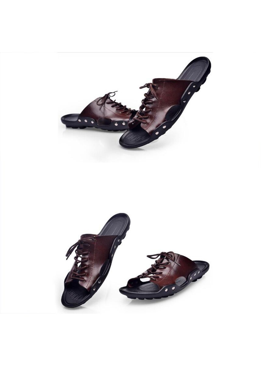 Brown color Sandals and Slippers . Fashion Men's Casual Leather Sandals -