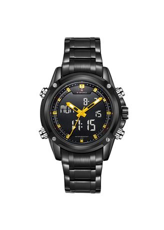 เหลือง color ดิจิตอล . Men's leisure time multi-functional waterproof watch -