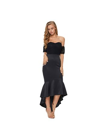 Dresses . Shi Ying Evening Dress Tube Top With Cup Cotton Back Zipper Lace Short -