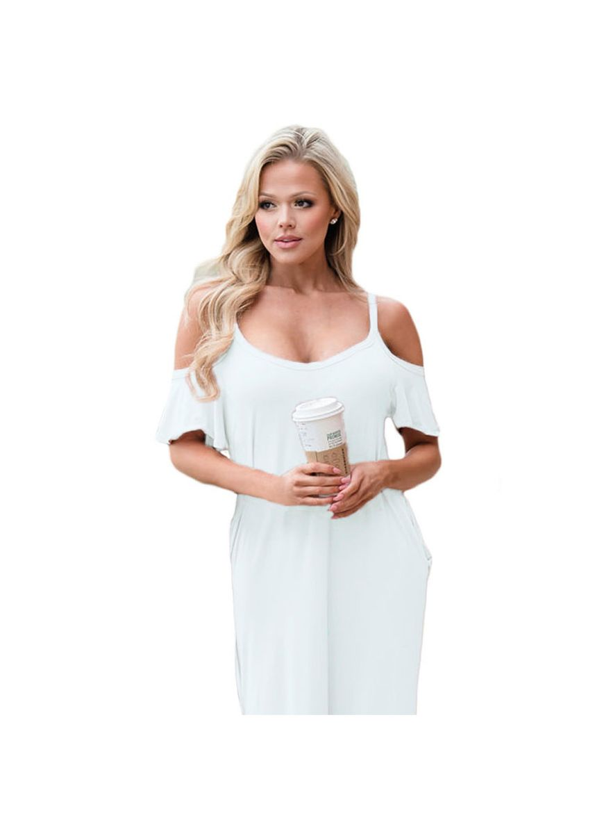 White color Dresses . Shi Ying Women's Sling Strapless Short-sleeved High Waist With -
