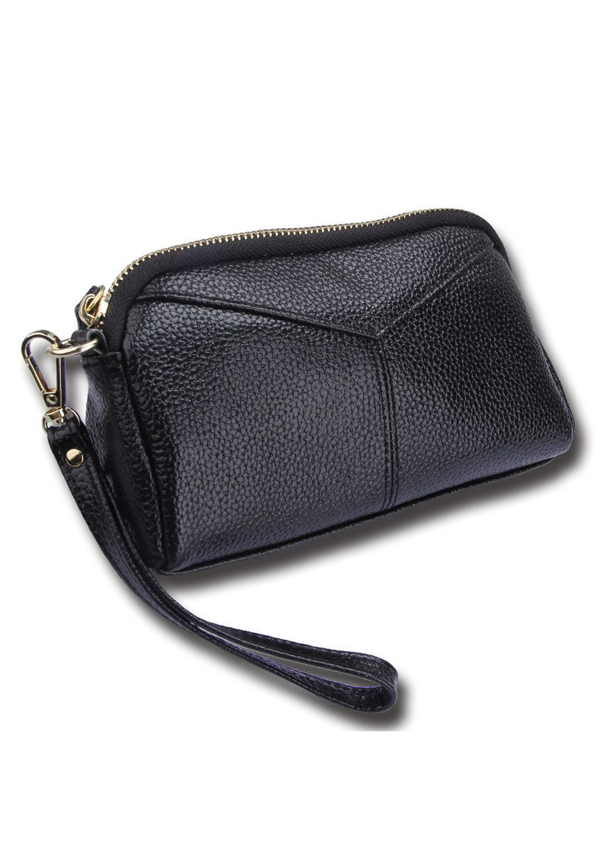 Black color Wallets and Clutches . Women Leather  Fashion Mobile Phone Bag Wallet -