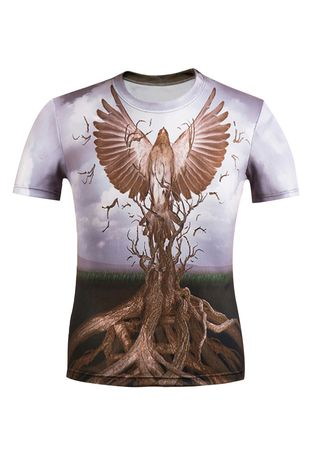 Multi color T-Shirts and Polos . 3D Eagle T-shirt -