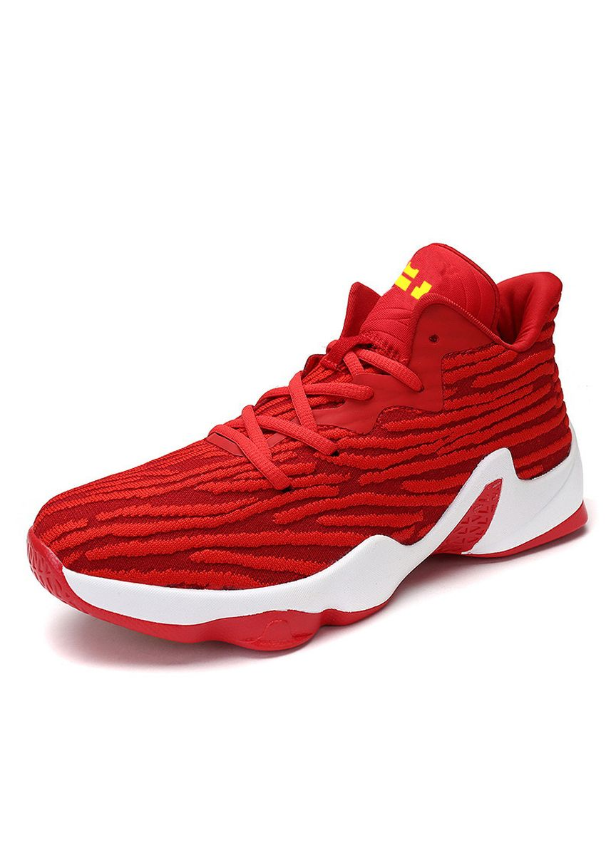 Red color Sports Shoes . And Basketball Shoes Men's Breathable Wearable Large Size Low Help -