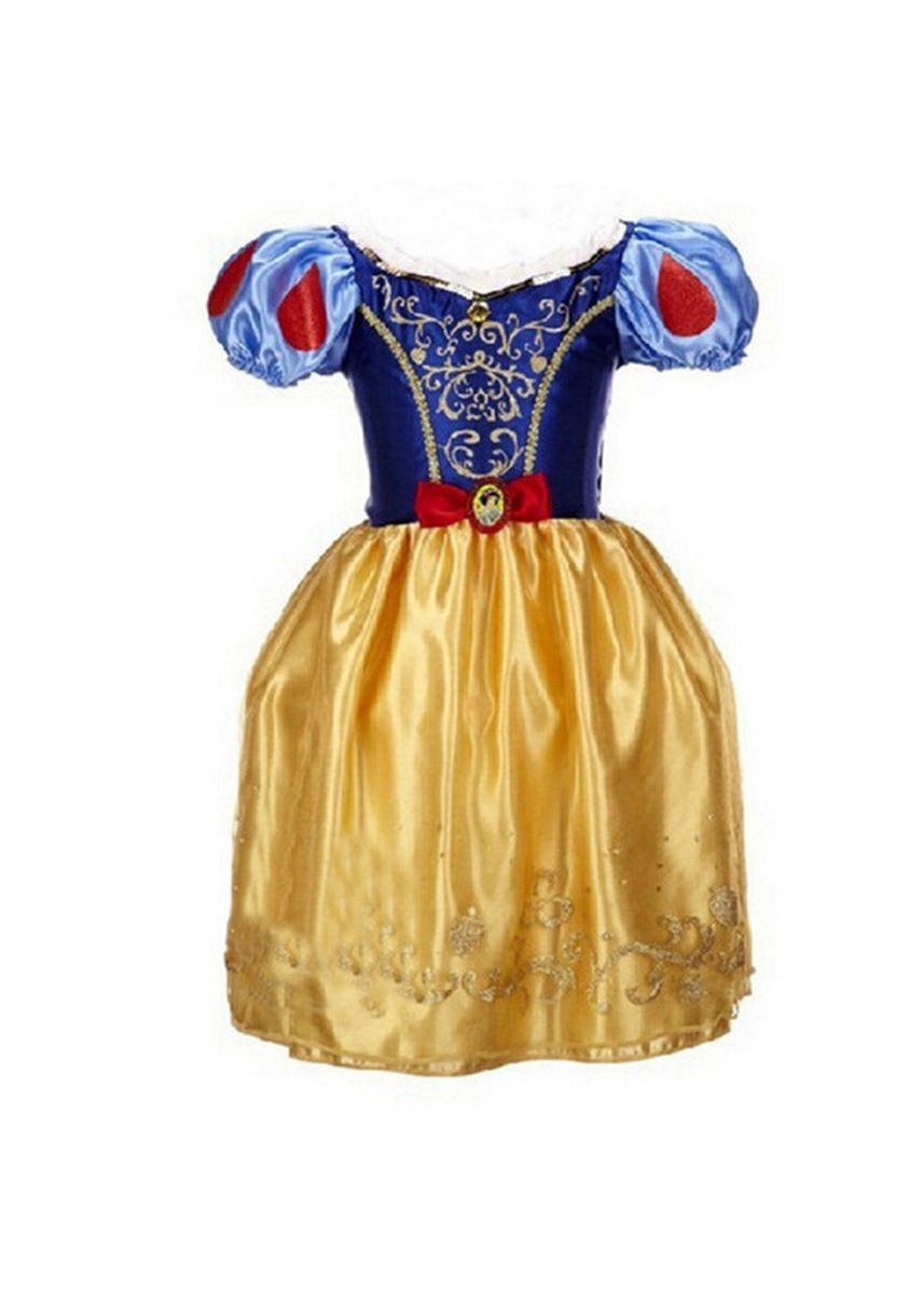 เหลือง color เดรส . Children's Wear Ice Romance Dress Princess Girl Child -