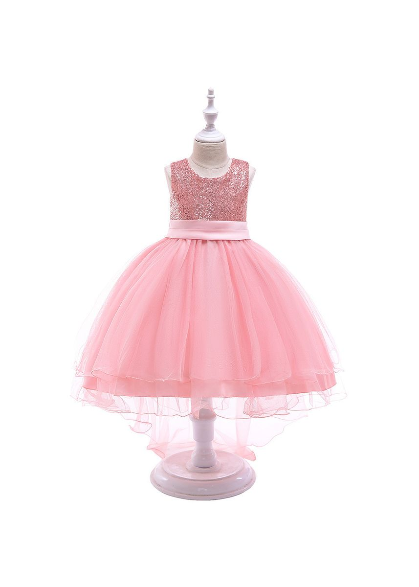 Pink color Dresses . Girls Sequin Dress Child Tail Princess -