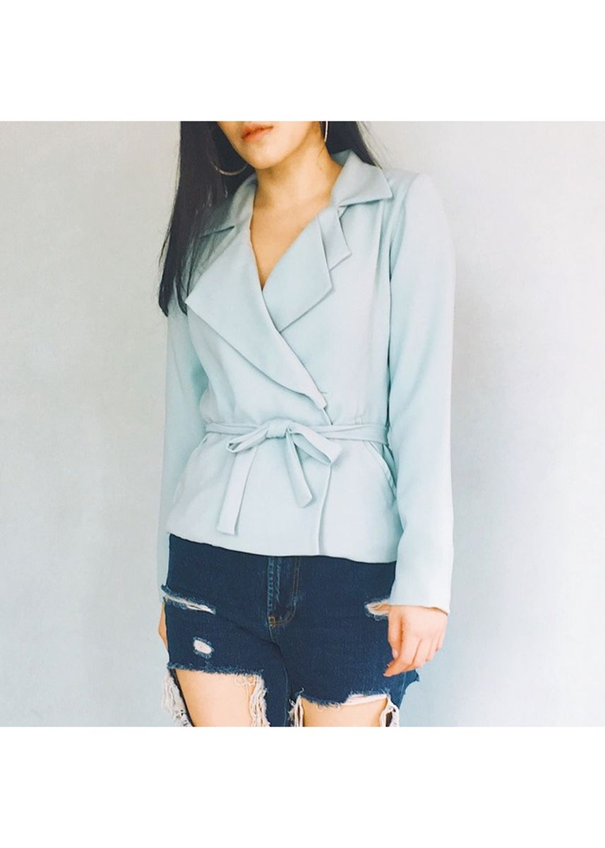 Green color Tees & Shirts . Stella And Luna Blazer Top(Mint) -