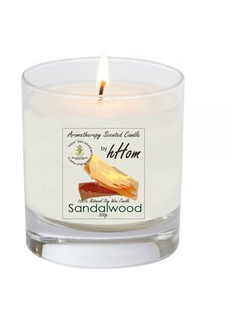 No Color color Home Fragrances . Aroma Organic Soy Wax Candle Sandal Wood 300g. -